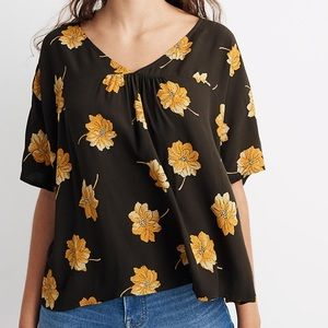 Madewell Woman's Rhyme Top in Fall Flowers size XS